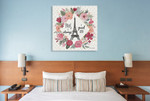 Paris is Blooming IV Wall Art Print on the wall