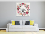 Paris is Blooming V Wall Art Print on the wall