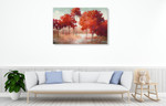 Autumn Lake Wall Art Print on the wall