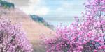 Hillside Blooms Wall Art Print
