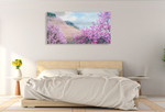 Hillside Blooms Wall Art Print on the wall