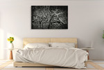 Lowland Winter Forest Wall Art Print on the wall