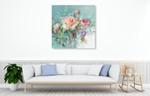 Summer Garden Roses Wall Art Print on the wall