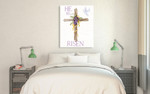 Easter Blessing Saying II Wall Art Print on the wall