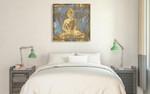 Meditating Buddha Wall Art Print on the wall