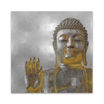 Silver and Gold Buddha Wall Art Print