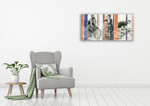 Vintage Bicycling Wall Art Print on the wall