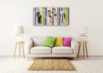 Vintage Boxing Wall Art Print on the wall