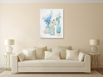 Beach Cottage Florals II Wall Art Print on the wall