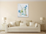 Beach Cottage Florals III Wall Art Print on the wall