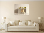 Five Pears on Box Wall Art Print on the wall