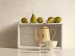 Five Pears on Box Wall Art Print