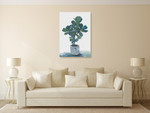 Potted Plant Wall Art Print on the wall