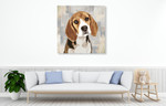 Beagle Wall Art Print on the wall