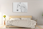 Classic White Wall Art Print on the wall