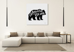Mama Bear Wall Art Print on the wall