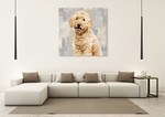 Poodle Wall Art Print on the wall