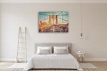 Brooklyn Bridge Wall Art Print on the wall