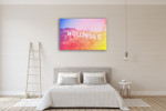 Hollywood Sign Wall Art Print on the wall