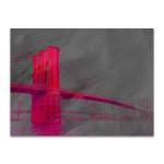 Pink Brooklyn Bridge Wall Art Print