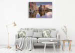 Sunset Over Amsterdam Wall Art Print on the wall