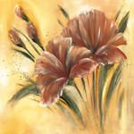 Brown Flower I Wall Art Print