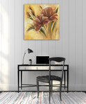 Brown Flower I Wall Art Print on the wall