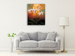 Orchids Wall Art Print on the wall