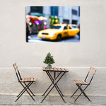Lights of the City Taxi Wall Art Print on the wall