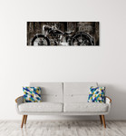 The Vintage Motorcycle Wall Art Print on the wall