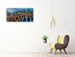 The Amsterdam Canals Wall Art Print on the wall