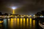 Eiffel Tower Lights Wall Art Print