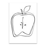 Fruit Contour Apple Wall Art Print