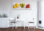 Kinds of Fruit Wall Art Print on the wall