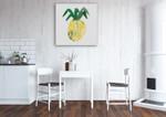 Pineapple Wall Art Print on the wall