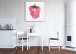 Raspberry Wall Art Print on the wall