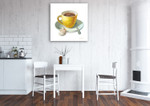 Wake Me Up Coffee IV Wall Art Print on the wall