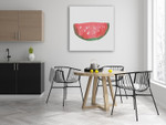 The Watermelon Wall Art Print on the wall