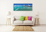 The Whitehaven Beach Wall Art Print on the wall