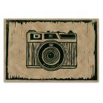 Camera Linocut D Wall Art Print