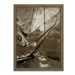 Sailing in Sepia B Wall Art Print