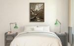 Sailing in Sepia B Wall Art Print on the wall