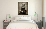 Steam Engine Wall Art Print on the wall