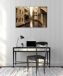 Old Venice Canal Wall Art Print on the wall