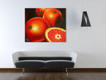 Tangerine on the wall