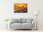 Venice at Sunset Wall Art Print on the wall
