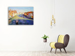 The Venice Canal Wall Art Print on the wall
