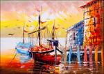 Venice Italy Boats Wall Art Print