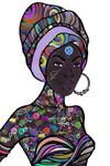 Africa Street Wall Art Print