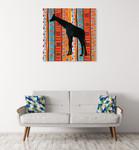 African Animal III Wall Art Print on the wall